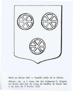 Blason famille Douet