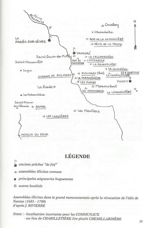 Carte des lieux de prêche