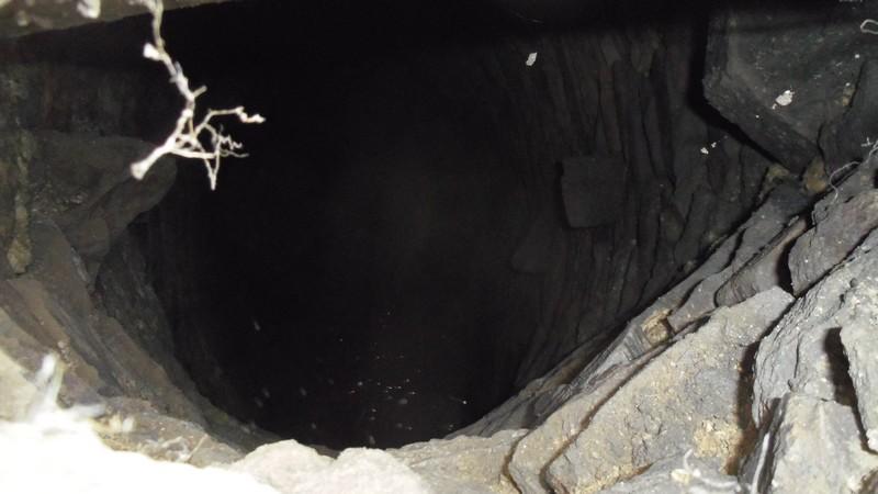 ouverture du puits d'accès.