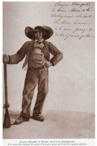 Dessin de Louise de la Rochejaquelein (1826). Illustration extraite de l'Album Vendéen Amblard de Guerry et Michel Chatry 1992
