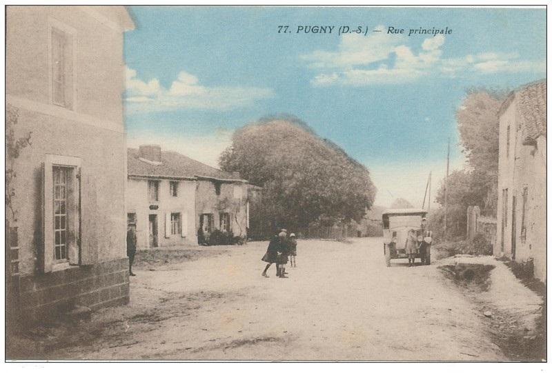 Pugny - la rue principale