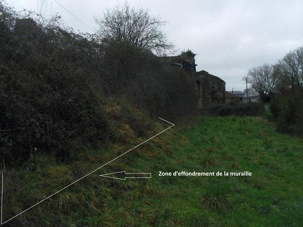 zone d'effondrement de la muraille