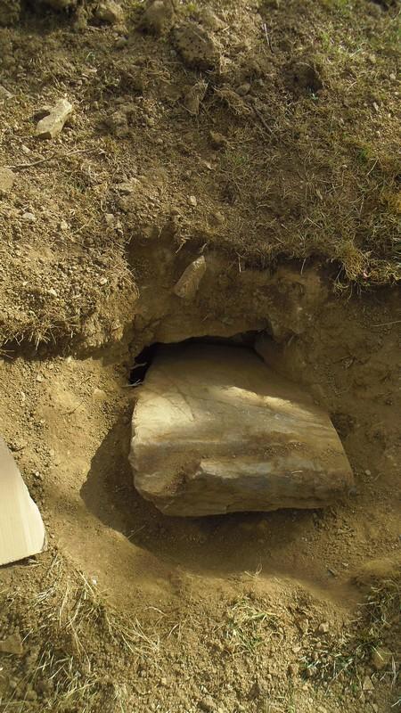 la pierre dégagée